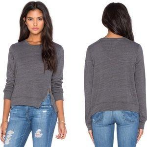 Sundry | Grey Semi Cropped Side Zip Pullover Sz 2